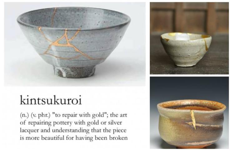 Kintsukuroi-Collage